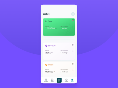 Crypto Wallet cryptocurrency crypto app ux ui design