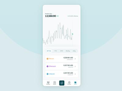 Crypto Mobile Portfolio cryptocurrency crypto app web ui ux design