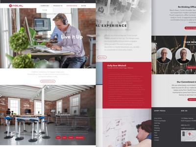 Focal Upright website re-design.
