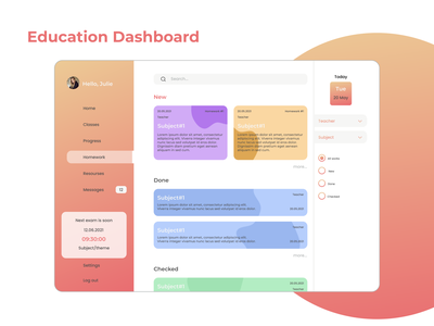 Education Dashboard dashboard education dashboard webdesign ui ux design ui  ux figma design ui