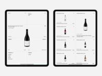 Wine Store store e-commerce wine ipad interface design ui