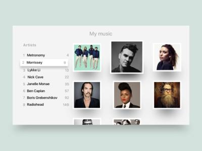 TV app music tv interface design ui ux tvos