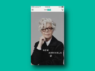 EyesCode Mobile ux ui interface shop fashion mobile e-commerce ios