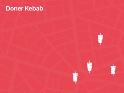 Doner Kebab Search branding icon design ui