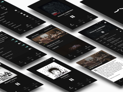 App for Piter FM player design interface music material android mobile ui ux