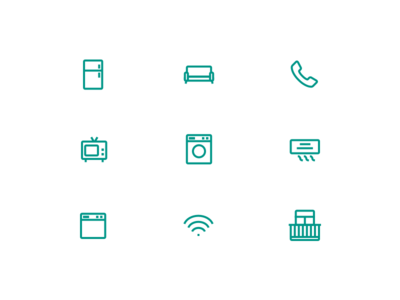 Icon set for real estate app ui free apartments furniture design estate real icons