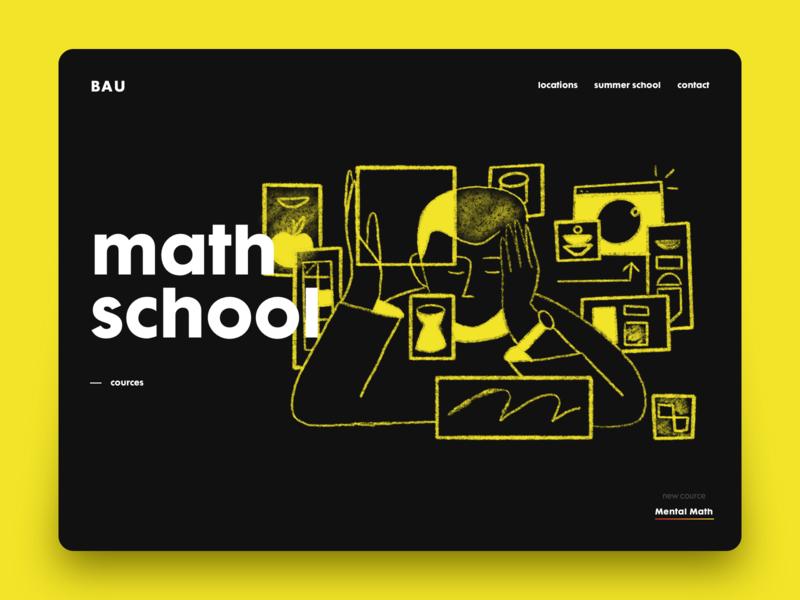 Math interface web design ui