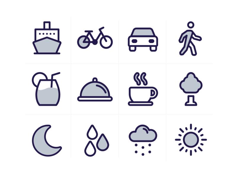 Travel Icons interface design icon set