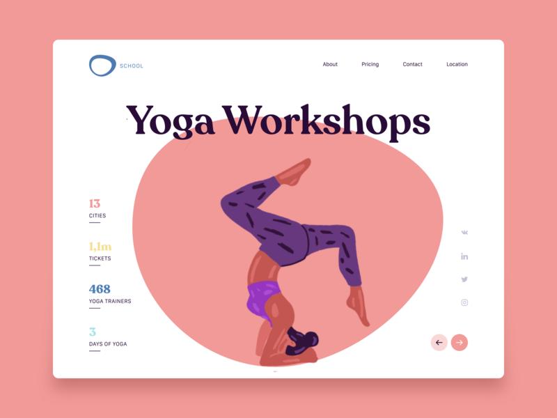 Yoga Classes yoga studio yoga pose yoga website interface design ux ui