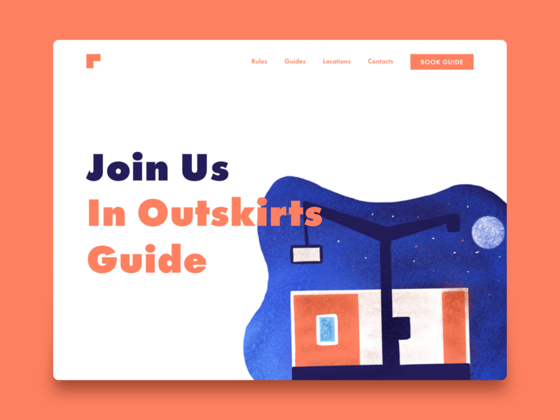 Outskirts Guide russia building outskirts website interface design ux ui