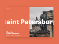 Saint-Petersburg guide travel web interface design ui