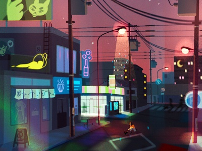 another city procreate explore sketch icons design buildings city concept art digital art illustration anime