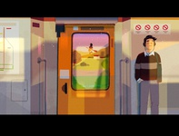 is it weird that i miss catching the train? texture man design character procreate shadow relax music outside anime home flying transport light train witch