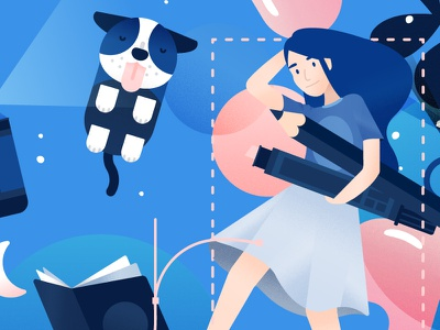 Apply for jobs... with superpowers — Seekers experiment wip onboarding wild character icons design presumi hero vector illustration details