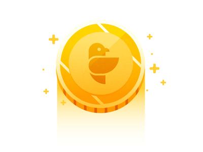 Presumi credits! inspiration icons presumi sparkle gold illustration vector onboarding coins credit