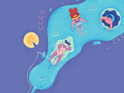 Drink well, have well • Alcohol 🍹 texture party wip swimming character floral vector cocktail alcohol drinks icon illustration
