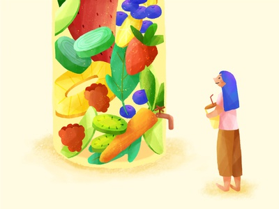 Get juicy • Food life delicious style lifestyle fun wip process photoshop character food fruit juice