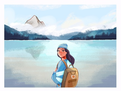 Explorer profile product design experiment drawing sketch clean progress inspiration simple style wip character procreate illustration