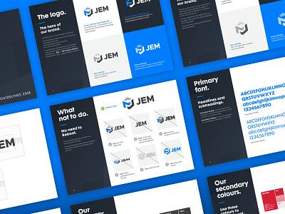 JEM Computers - Brand Guidelines ui ux soccer happy new year beauty flat icon poster vector logomark logo branding agency 2019 typography illustration branding graphic design art digital