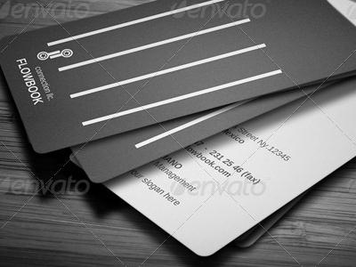 Flowbook Business Card black business card ceo card clean corporate design designers developer card name card premium card white