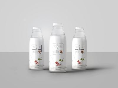 Free Milk Mock-up download bottle mockup milk free