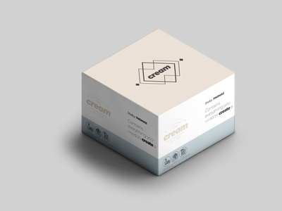 Free Cream Mock-up cosmetics mockup box cream