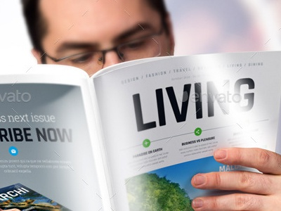 a4 brochure magazine mock up set by graphicboat dribbble
