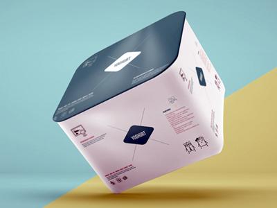 Free Yoghurt Mockup yoghurt cup box cream case can milk butter