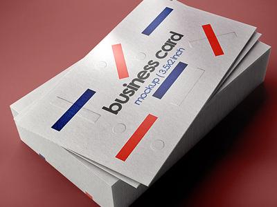 Free Business Card Mockup glossymatte coated cardvisite foil mockup card business