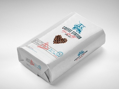 Flour & Coffee Package Mockup