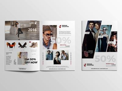 A4 Brochure Mockup Open & Cover