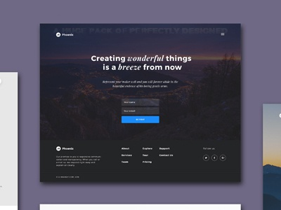 Free Sample – Phoenix Startup UI Kit