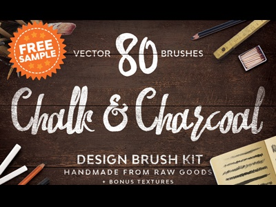 Free Chalk and Charcoal Vector Brushes