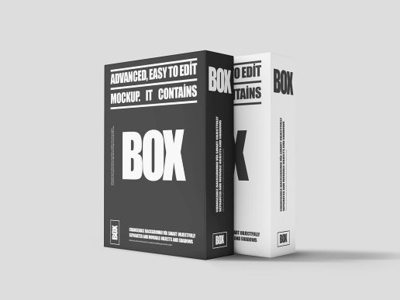 Software Box Mock-ups PACK open one objects mock-up material isolated gift drawer decorative decoration decorate cutout container christmas cardboard box blank birthday background anniversary