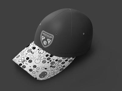 Cap Mock-ups visor sticker snapback screen realistic printed print ready new era mockup hood hats hat fullcap embroidery clothing clip clasp caps baseball