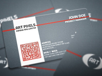 Art Business Card art business card background blue business card canvas card clean company card corporate high quality jean line name pattern premium card red line