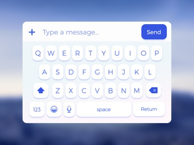 [FREE] Mobile Keyboard UI (Sketch) sketch free write keyboard text message chat kit mobile apple ios ui