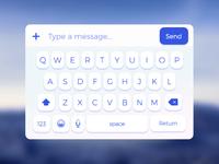 Full preview white keyboard ui