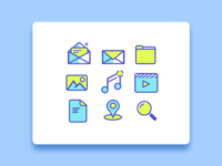 Simple line icon