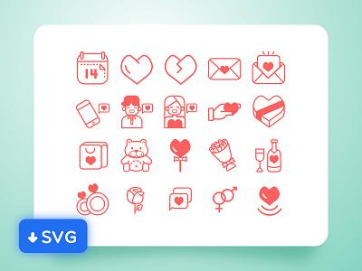 [Freebies] Valentine Day icon valentine day valentine icon stoke svg sketch free love freebie vector illustration outline
