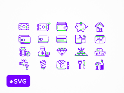 [Freebies] Finance Icons Set user icon set svg sketch free interface freebie vector file finance