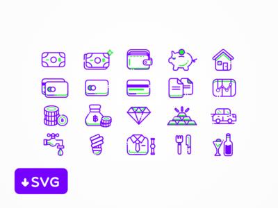 [Freebies] Finance Icons Set