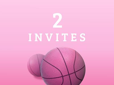 2 Dribbble invites! dribbble invites invite invitation