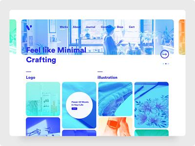 Minimal Portfolio Theme web design web website design ux ui dribbble theme portfolio minimal