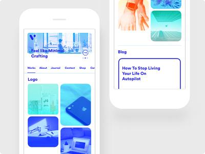 Mobile | Minimal Portfolio Theme mobile minimal portfolio theme dribbble ui ux design website web web design