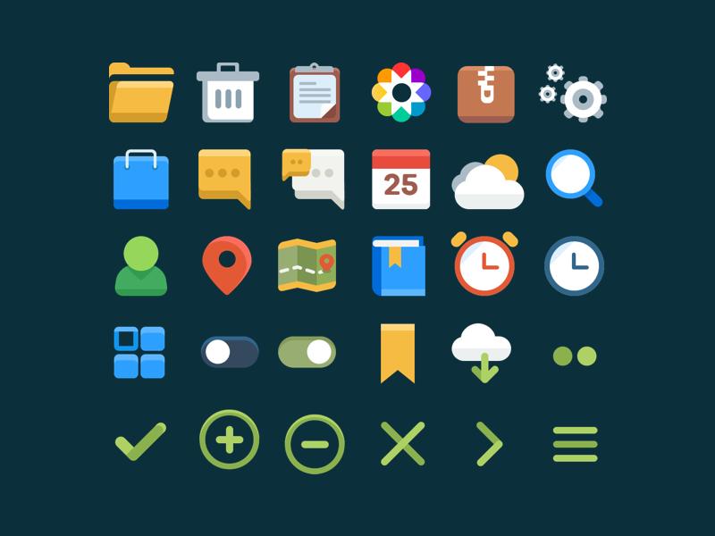 [Freebies] 30 User Interface Flat Icons Set
