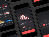 Nike X Supreme Shoes Shop UI