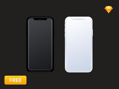 [Free] iPhone X Mockup Sketch download sketch x mockup iphonex iphone freebies free mobile