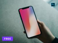 [Free] iPhone X Hand Mockup PSD