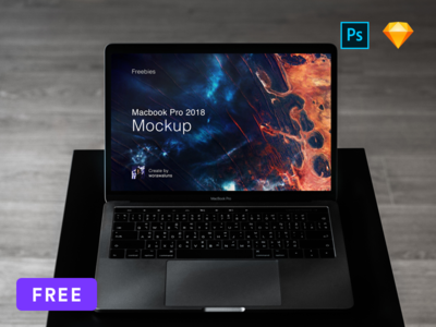 [Free] Mockup Macbook Pro 2018 Sketch and PSD